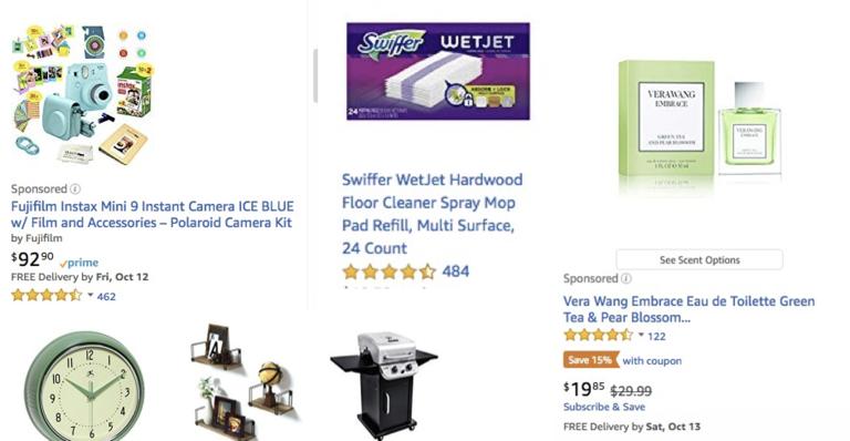 Amazon ads esempi