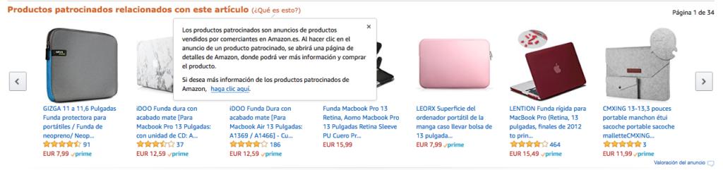 Produits sponsorisés Amazon ads