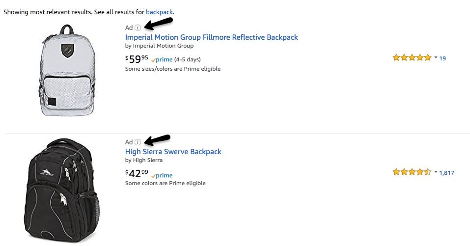produits sponsorisés par Amazon