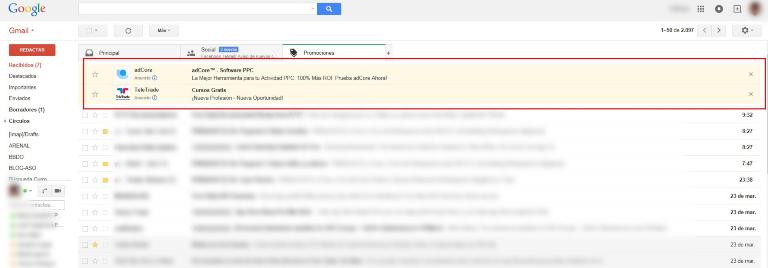 Caractéristiques de la publicité dans Gmail Ads