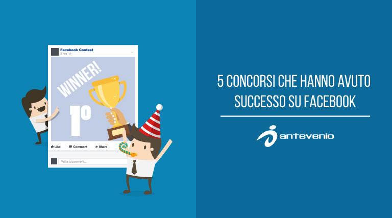 5 concorsi che hanno avuto successo su facebook for Concorsi parlamento italiano 2017