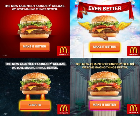 esempi di banners creativi McDonalds