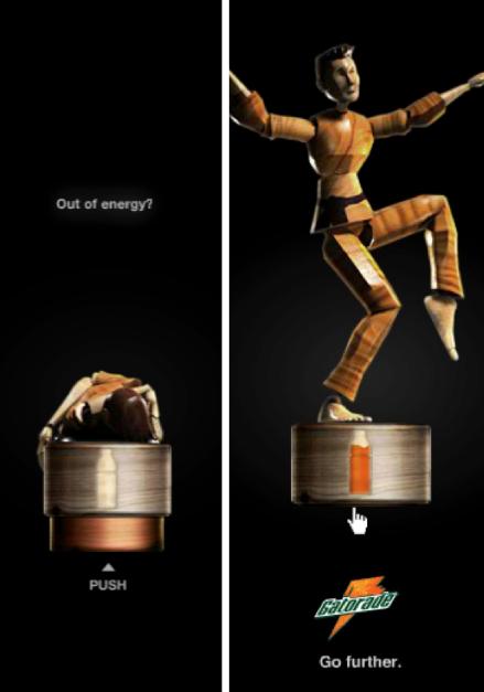 esempi di banners creativi Gatorade