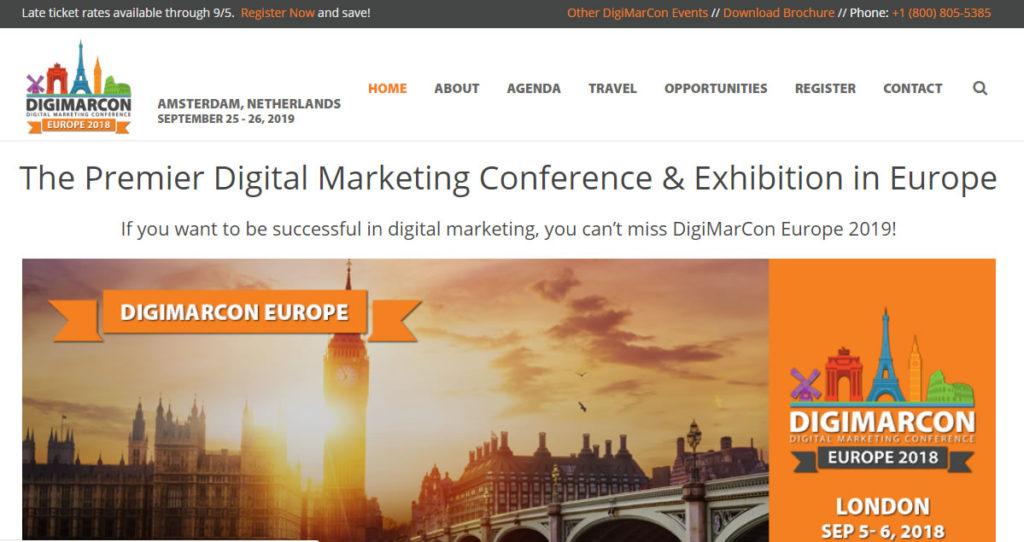 I 20 migliori eventi di digital marketing del 2019 in Europa