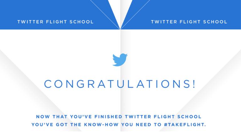 badge Twitter flight school
