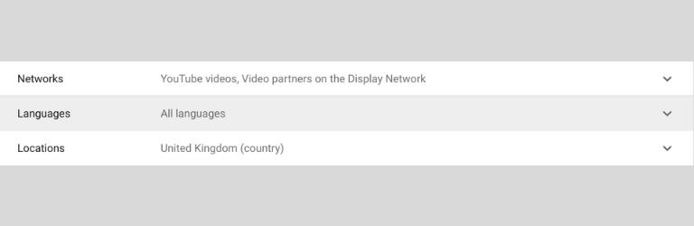 Scegli le reti, le lingue e le posizioni