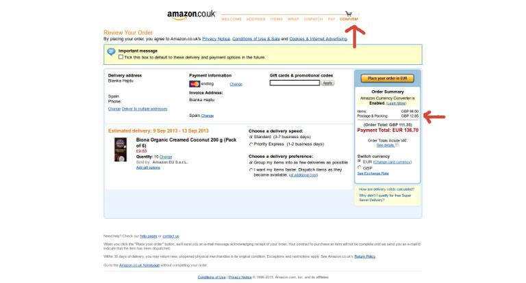 Amazon: costi di spedizione