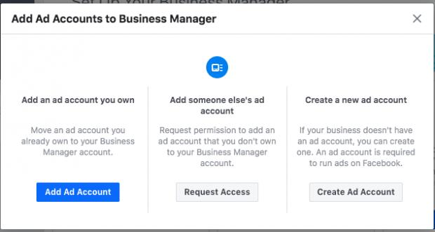 Crea il tuo account pubblicitario su Facebook Business