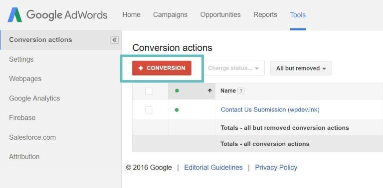 monitoraggio delle conversioni in Google Ads