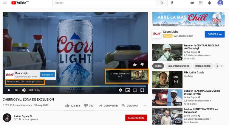 annunci youtube