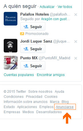 acceso a Twitter Ads