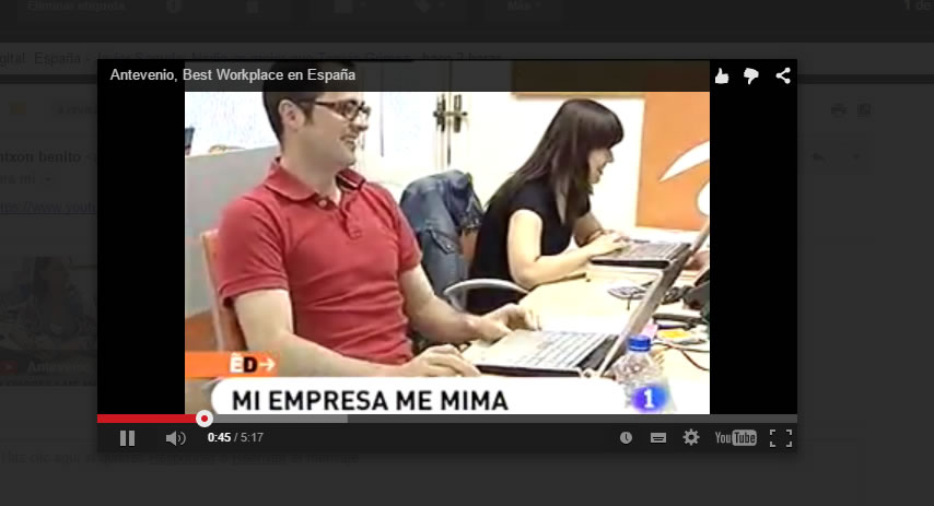 reproducir vídeo en Gmail