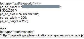 código javascript adsense