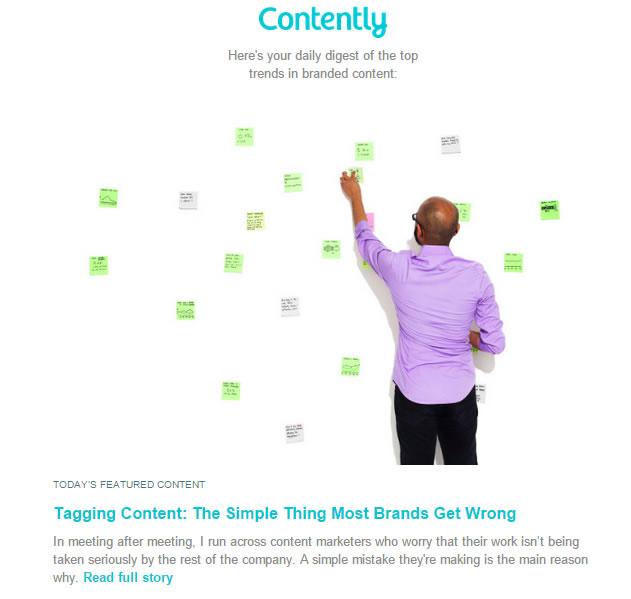 ejemplo de newsletter: Contently
