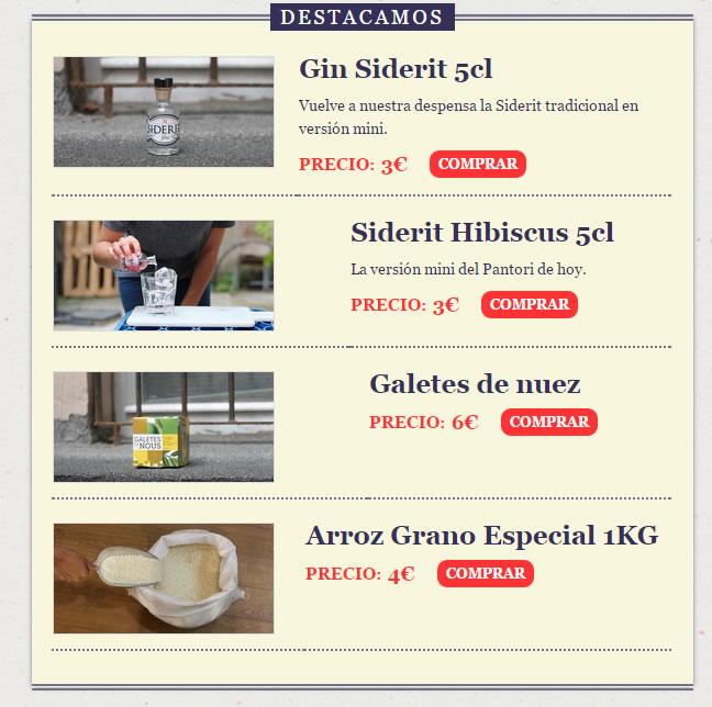 ejemplo de newsletter: Pantori