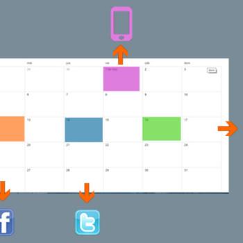 calendario conjunto email y social media