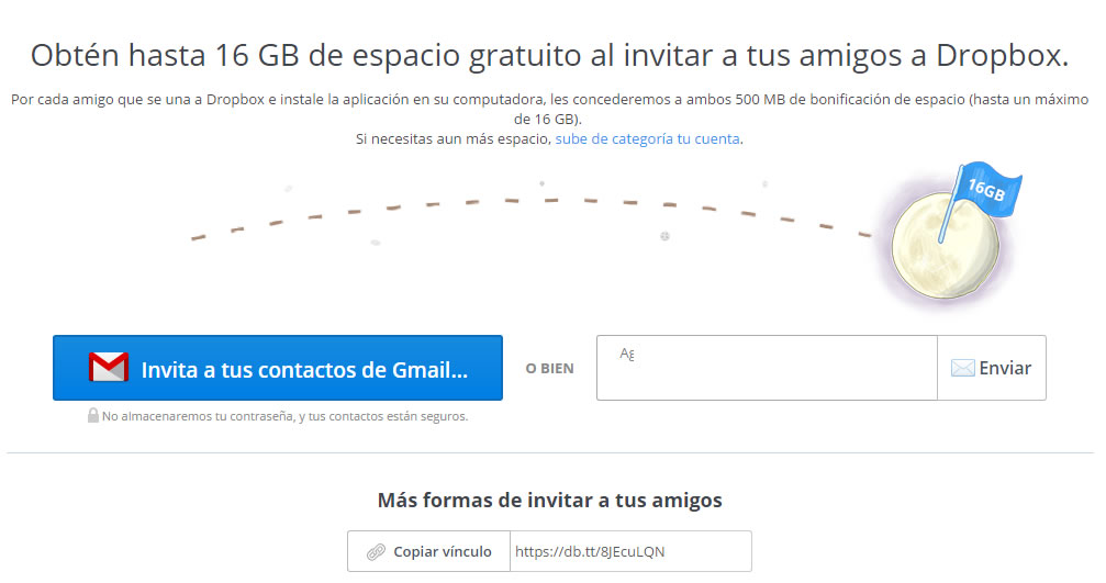 ejemplos de growth hacking: DropBox