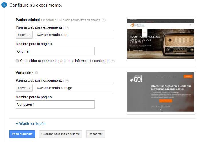 Test A/B con Google Analytics