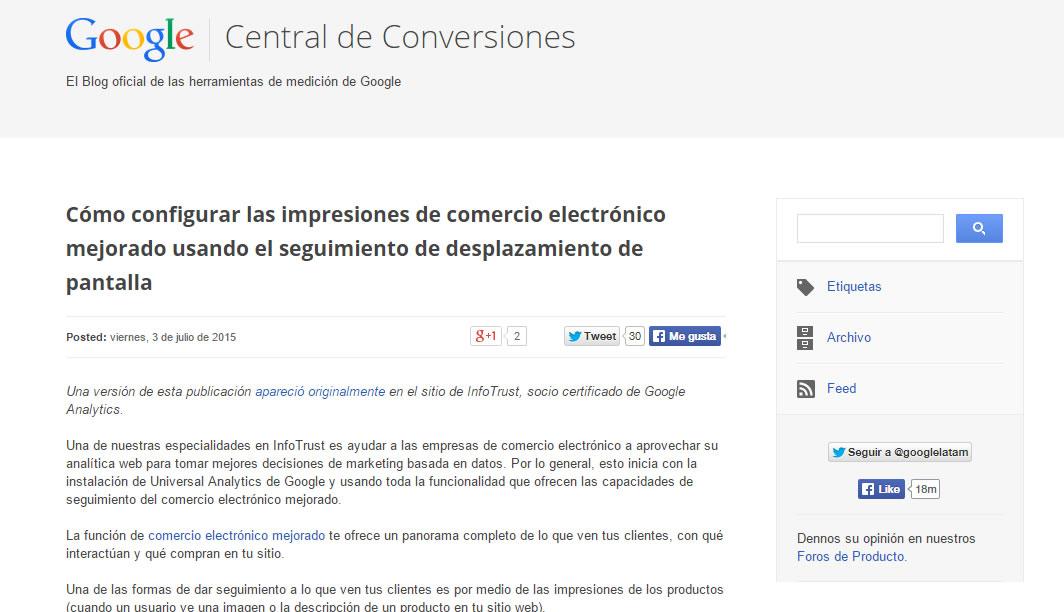 Central de conversiones