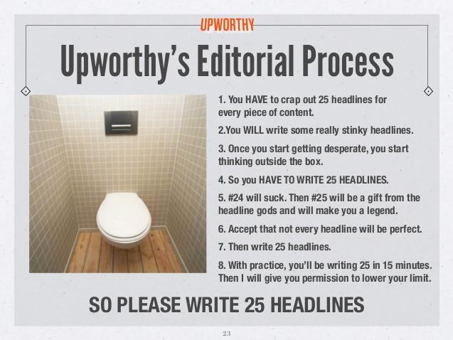 cómo escribir titulares: Upworthy