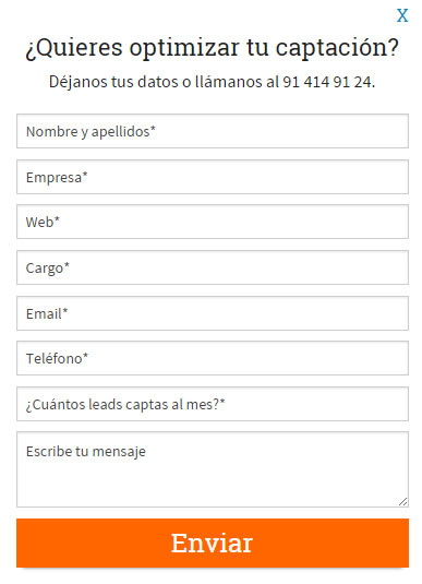 formulario landing page Antevenio Go!