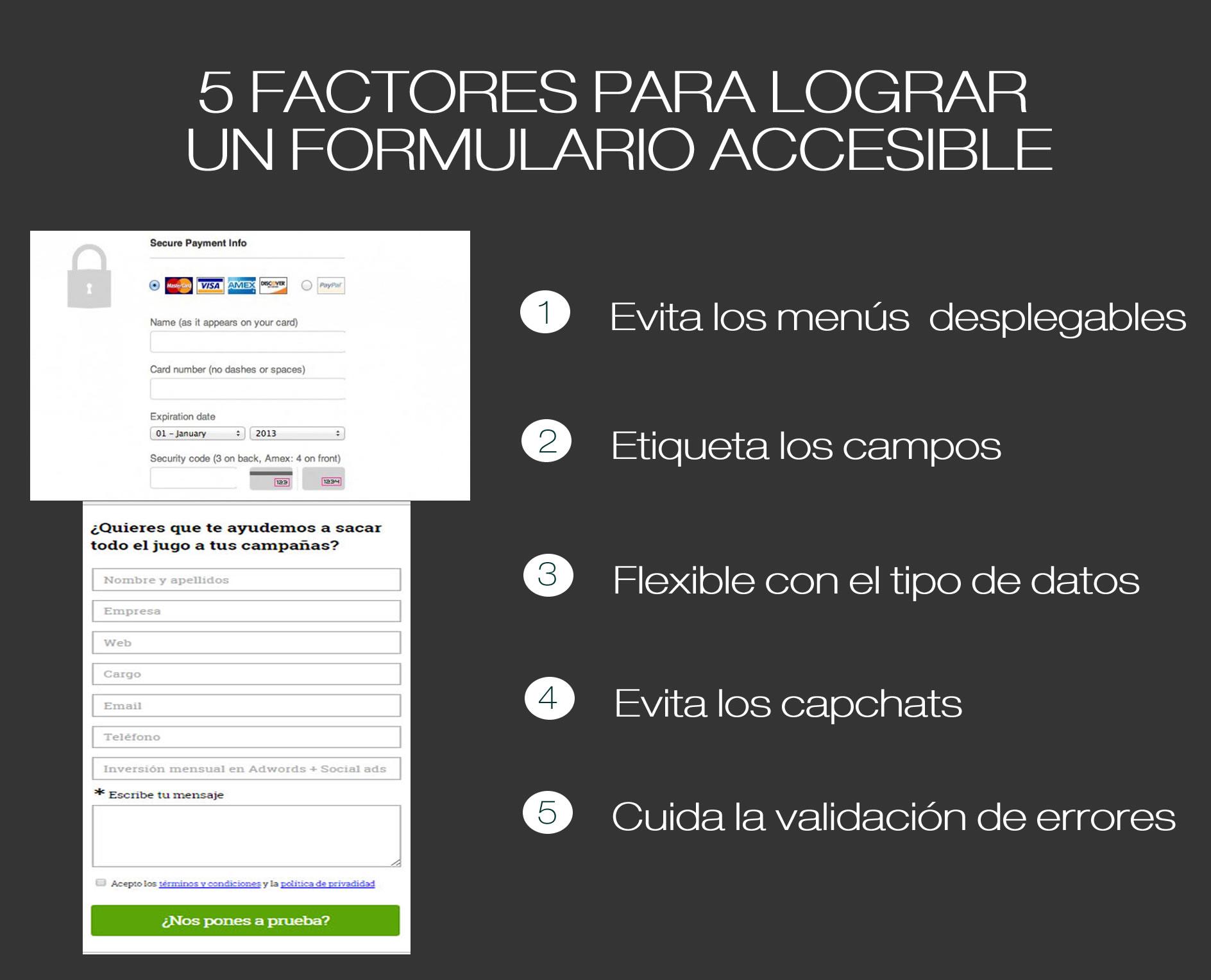 formularios accesibles