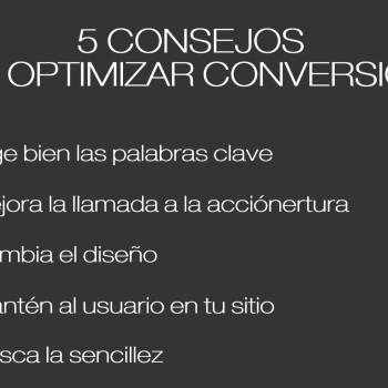 consejos para la optimización de conversiones