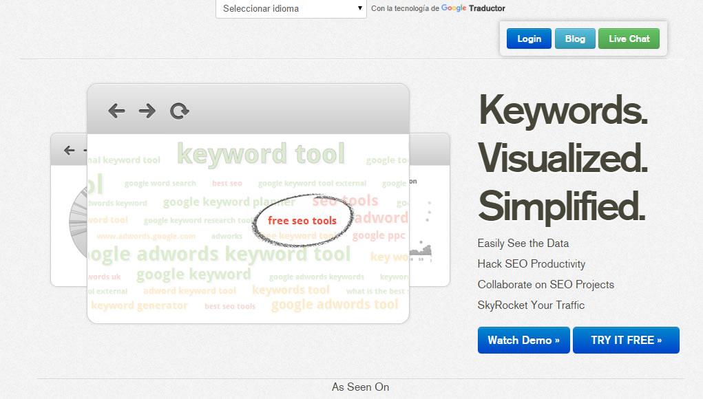 alternativas a Google Keyword Planner: Keyword Eye