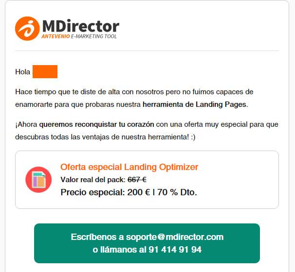 personalización de emails