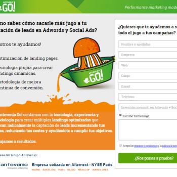 Antevenio Go! - mensajes efectivos para landing pages