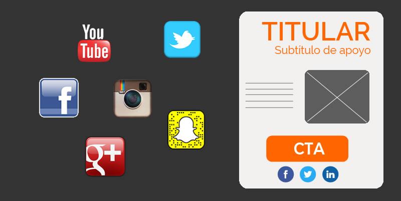 Captación de tráfico desde redes sociales a landing pages