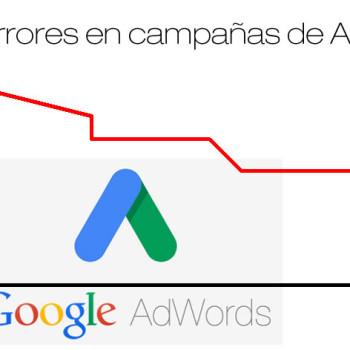 errores en campañas de Adwords