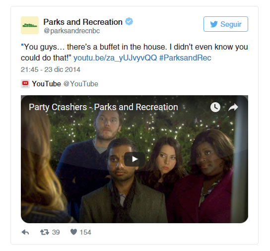 Parks and recreation Twitter