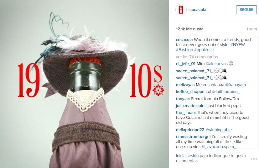 Instagram de Coca Cola