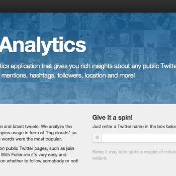 medir estadísticas en Twitter: Foller.me