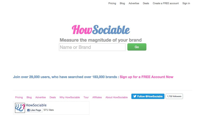 herramientas de monitorización de redes sociales : how sociable