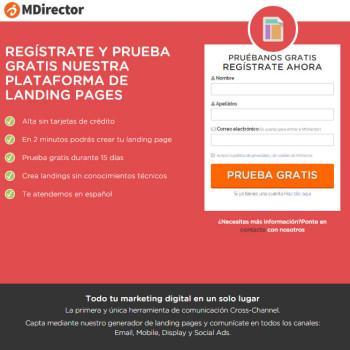 mejorar el diseño de una landing page: MDirector