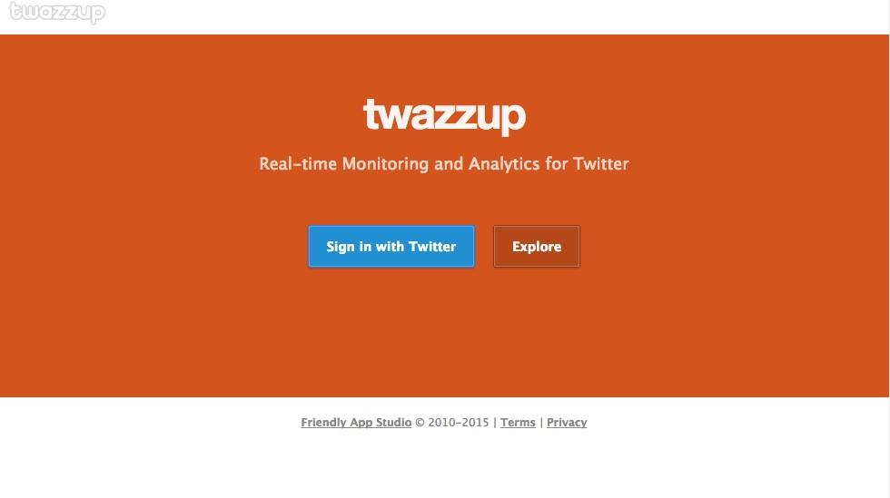 herramientas de monitorización de redes sociales : Twazzup