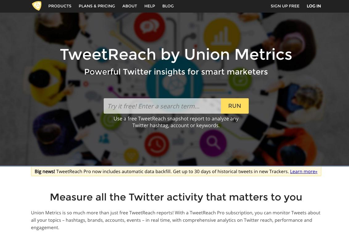 herramientas de monitorización de redes sociales : Tweetreach