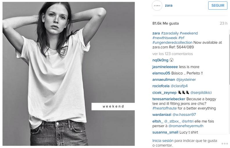 Instagram de Zara