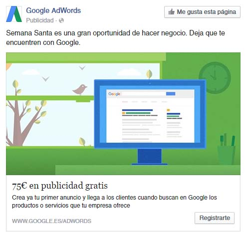 Facebook Ads de Google Adwords