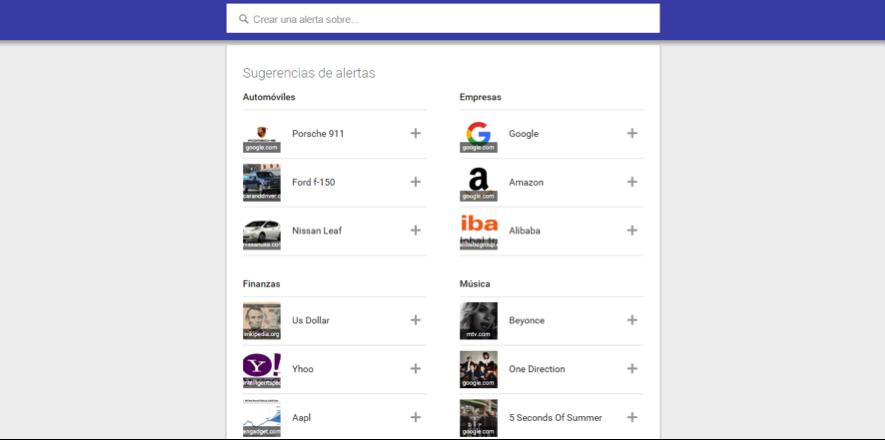 herramientas de escucha social : Google Alerts