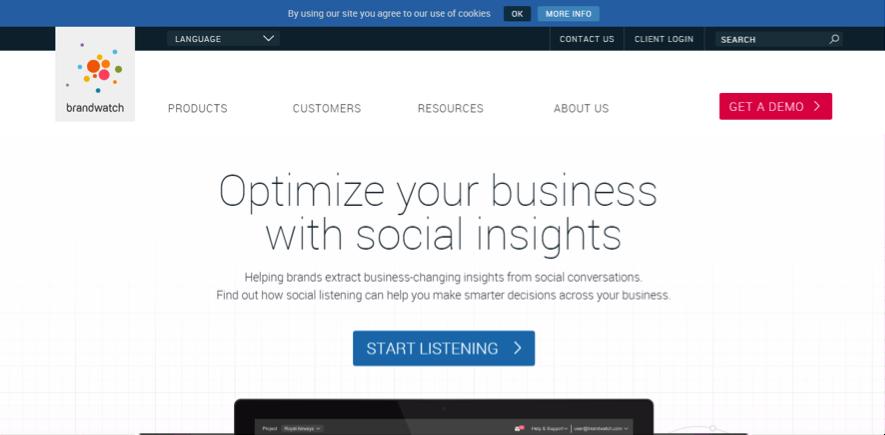 herramientas de escucha social : Brandwatch
