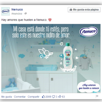 anuncios que funcionan en Facebook: Nenuco