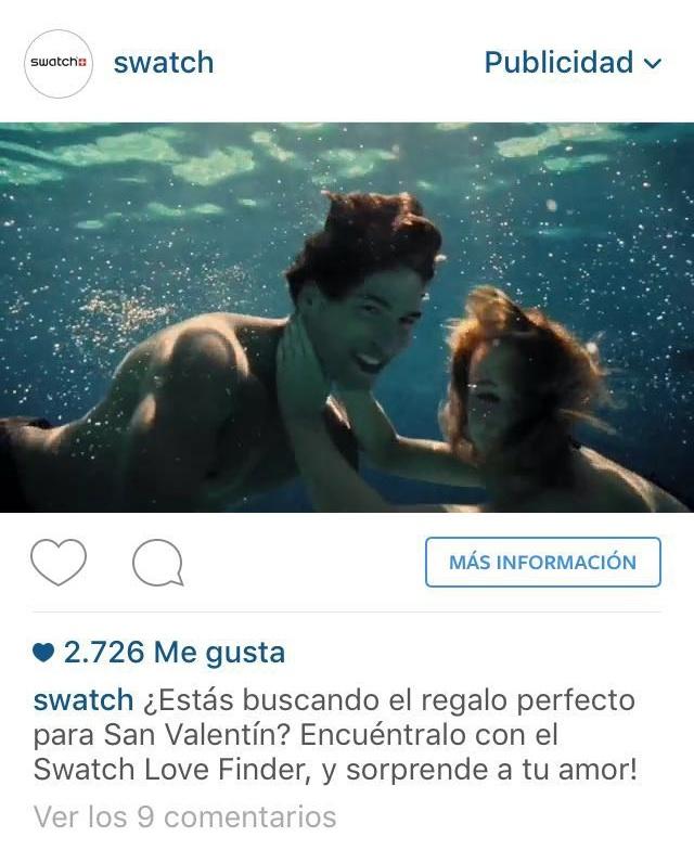 Anuncio de Instagram de Swatch