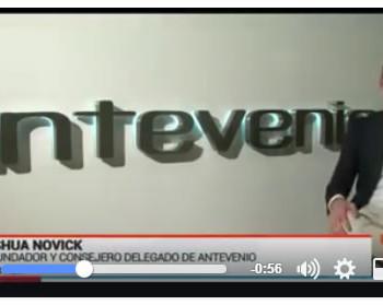 Joshua Novick en el reportaje sobre Antevenio en RTVE Emprende