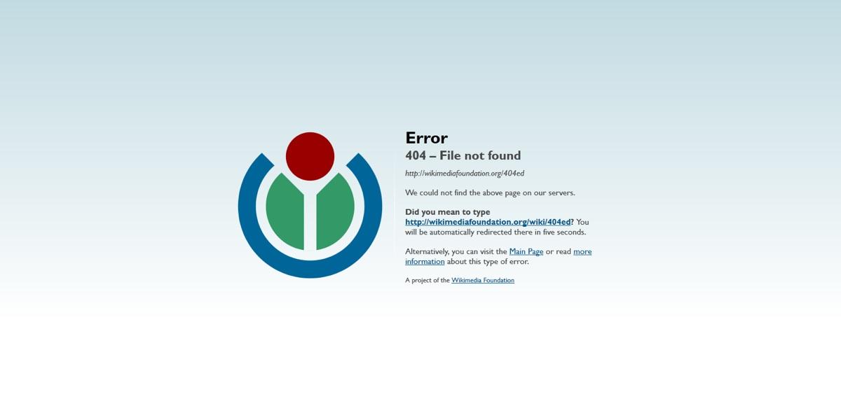 páginas de error 404