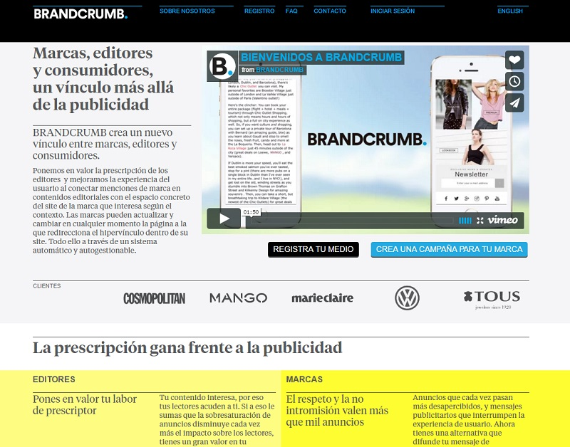 webs que te ayudarán a ganar dinero con un blog: BrandCrumb