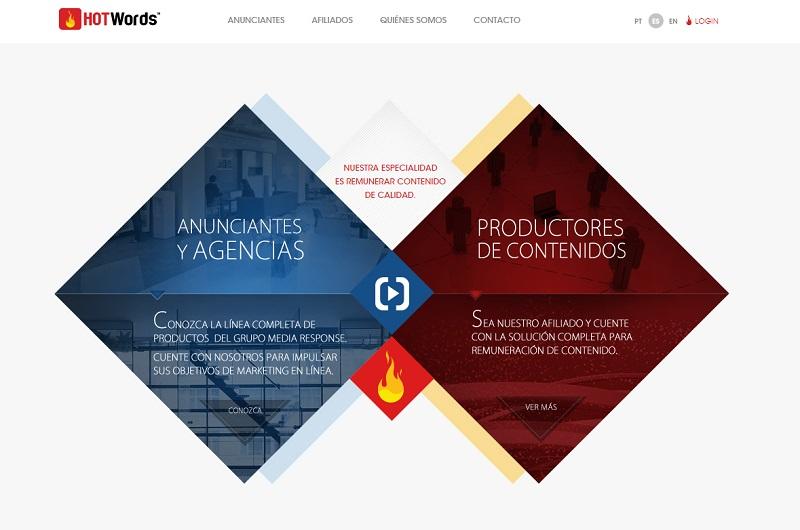 webs que te ayudarán a ganar dinero con un blog: Hotwords