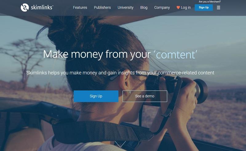 webs que te ayudarán a ganar dinero con un blog: Skimlinks